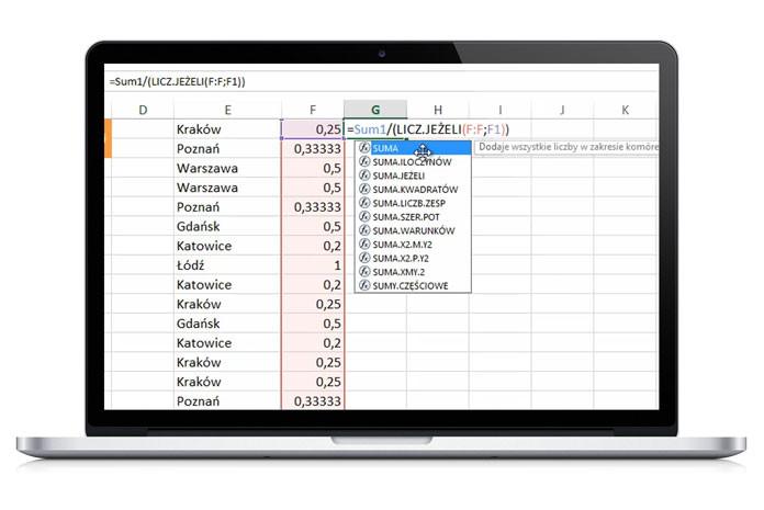 Excel formuły i funkcje